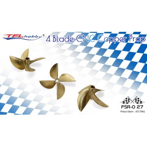 CNC 4 blade copper Propeller 67x1.7x6.35mm for racing line