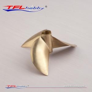 CNC 3 blade copper Propeller 67x1.7x6.35mm