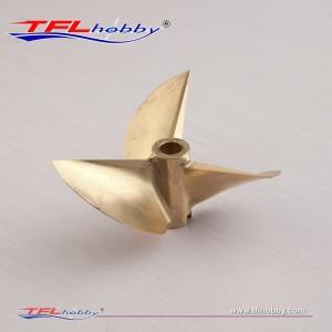 CNC  3blade copper  Propeller 69x1.7x6.35mm