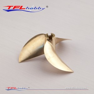 CNC  3blade copper Propeller70x1.6x6.35mm