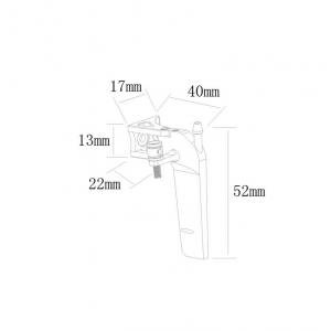 Aluminum 52mm rudder