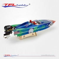 """1148 Warrior 35"""" outboard brushless rc boat"""