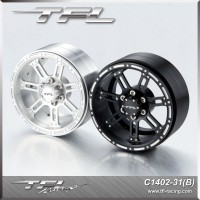 TFL 2.2 Inch CNC Aluminum Alloy 7-spoked Beadlock Wheels designB for RC Car