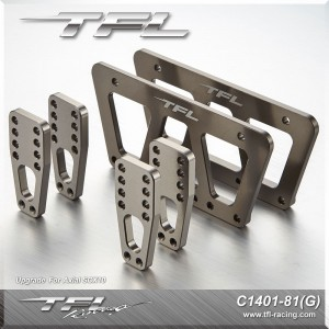 TFL CNC Aluminum Adjustable mount Set for Axial SCX10 Chassis Crawler C1401-81G
