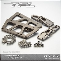 TFL CNC Aluminum Adjustable mount Set for Axial SCX10 Chassis Crawler C1401-81G