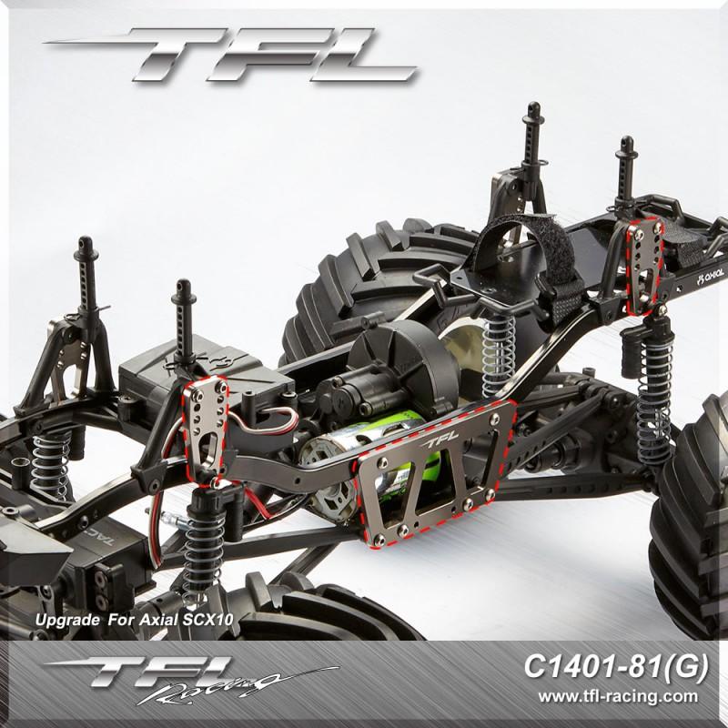 TFL CNC Aluminum Adjustable mount Set for Axial SCX10