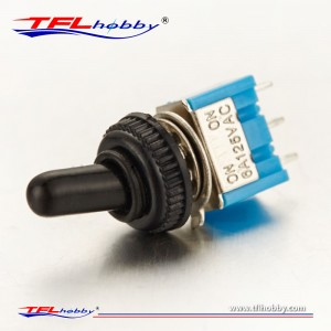 125V 6A ON/ON 3 Pin SPDT Toggle Switch With Waterproof Cover Cap
