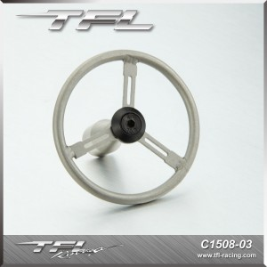 TFL Stainless Steel steering wheel for C1508 awd Simulation Crawler car C1508-03