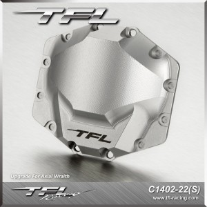 TFL Wraith Alloy Differential Cover Suitable for Axial Wraith Tuning Silver/Red