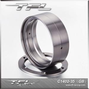 TFL 2.2 Inch CNC Aluminum Alloy 5-spoked Beadlock Wheels designF for RC Car