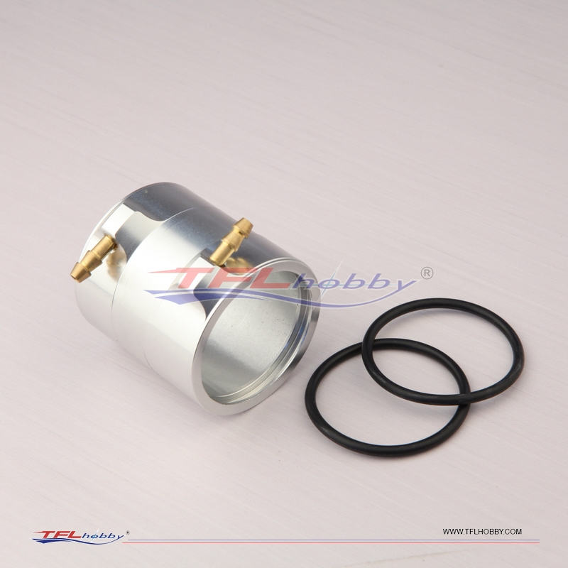 Aluminum Water Cooling Jacket for RC Boat BL Motor 45 x 42mm Titanium Color